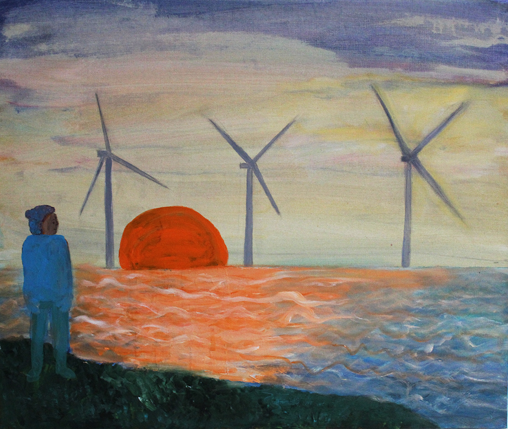 Looking at the Wind farm